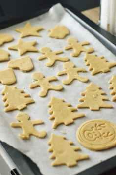 christmas cookies on tray