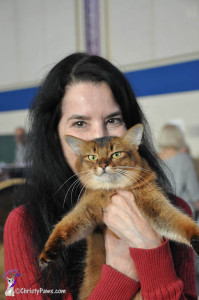 Summer and Janiss at the cat show