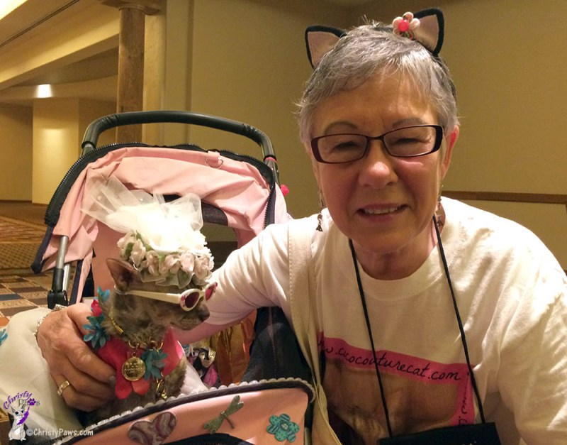 Coco, the Couture Cat and mom Teri