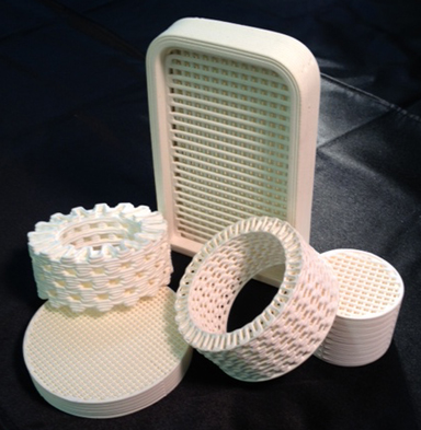 3D printed ceramic filters for molten metal filtration