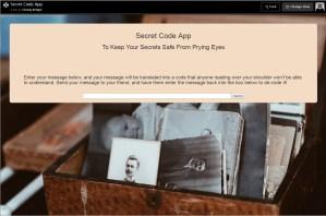 My Secret Code App