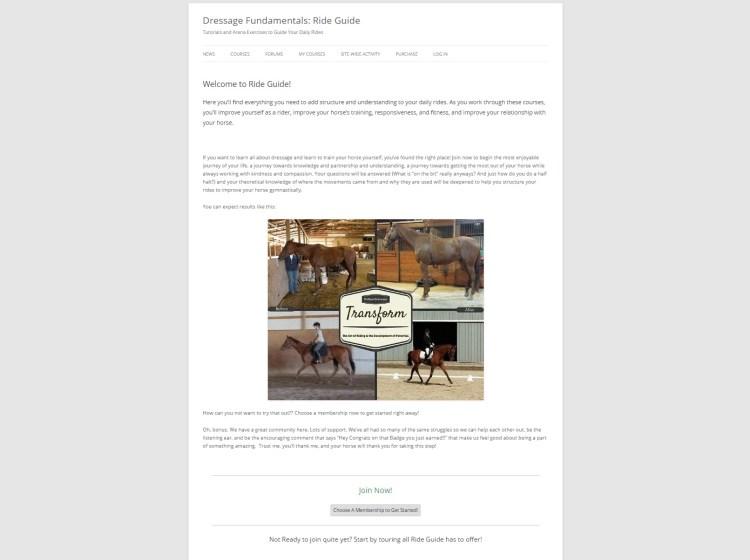 Ride Guide Website