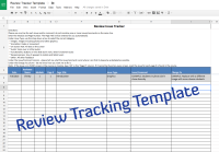 Course Review Tracking Template  Experiencing E-Learning