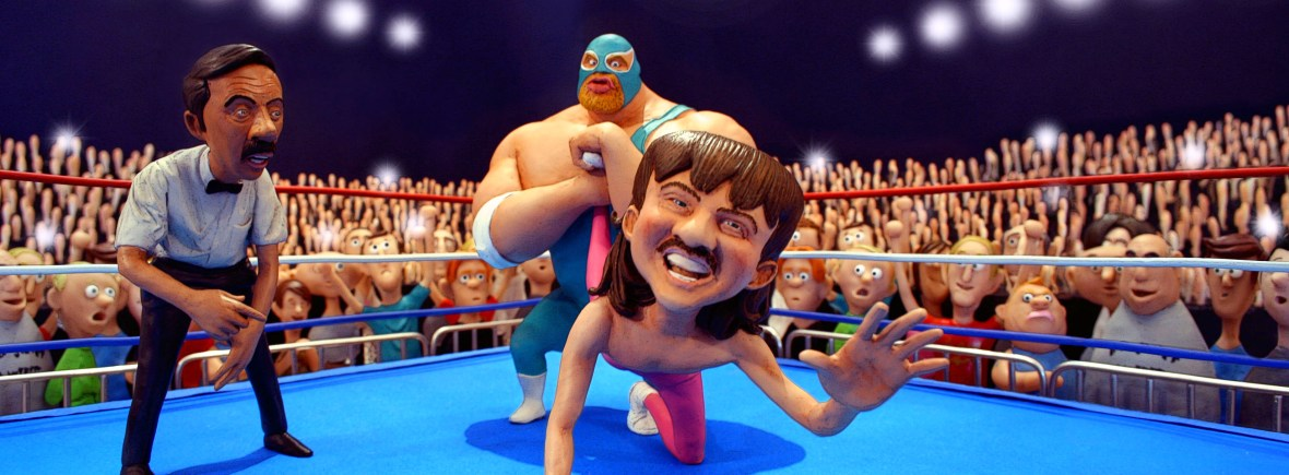 Wrestling 3D Illustration