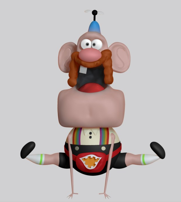 Uncle Grandpa toy digital sculpture