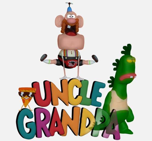 uncle grandpa digital sculpture statue colour