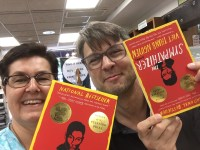 Chris Wolak and Thomas Otto getting their summer reading on! The Sympathizer