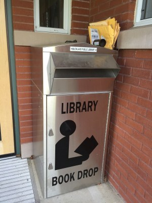 Buckland Public Library Book Drop