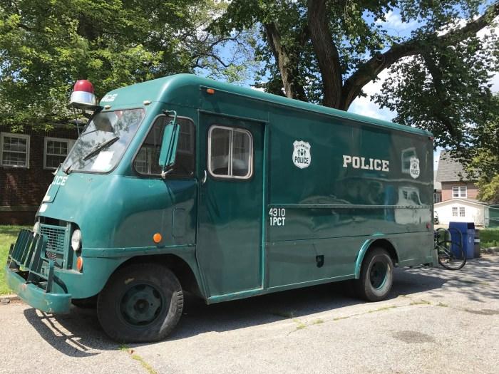NYPD Museum - 1960s Paddy Wagon (WildmooBooks.com)