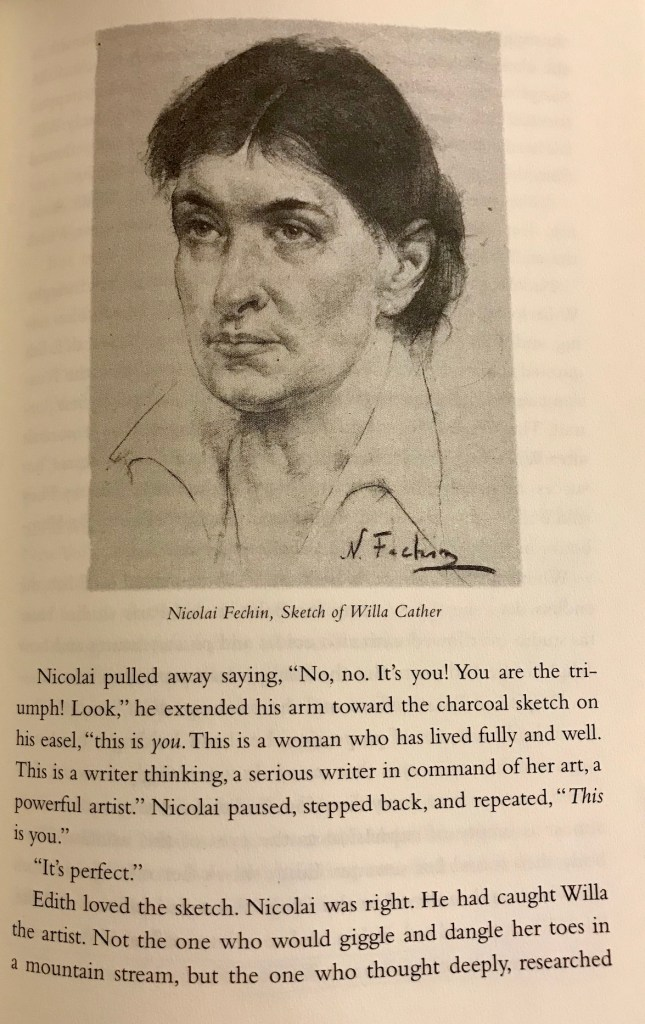 Nicolai Fechin Sketch of Willa Cather (WildmooBooks.com)