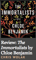 The Immortalists review on Criminal Element (WildmooBooks.com)