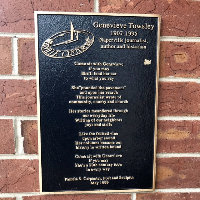 Plaque and Poem about Genevieve Towsley (1907-1995) on WildmooBooks.com