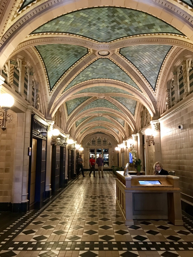 The Pritzker Military Museum & Library in Chicago, IL, Lobby (WildmooBooks.com)