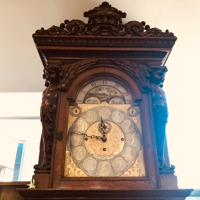 Katonah Library Grandfather Clock Face