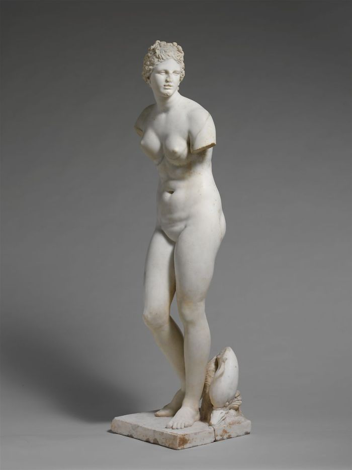Marble statue of Aphrodite, 1st or 2nd century A.D., from The Met website