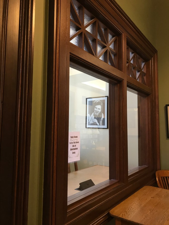 The Pasty Cline Study Room at The Handley Library in Winchester, VA