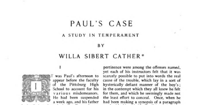 Paul's Case McClure's Magazine