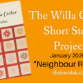 January 2020 Willa Cather Short Story Project Neighbour Rosicky