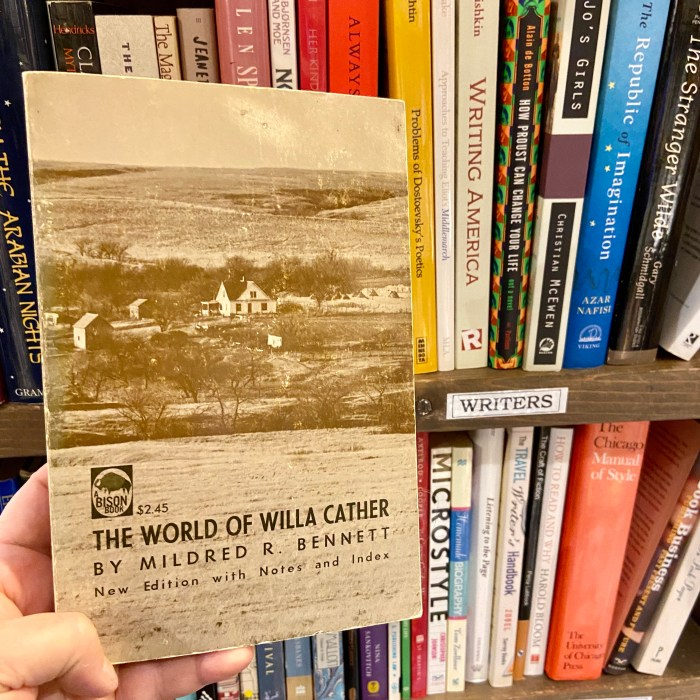 The World of Willa Cather by Mildred R. Bennett at Northshire Bookstore in Manchester, VT