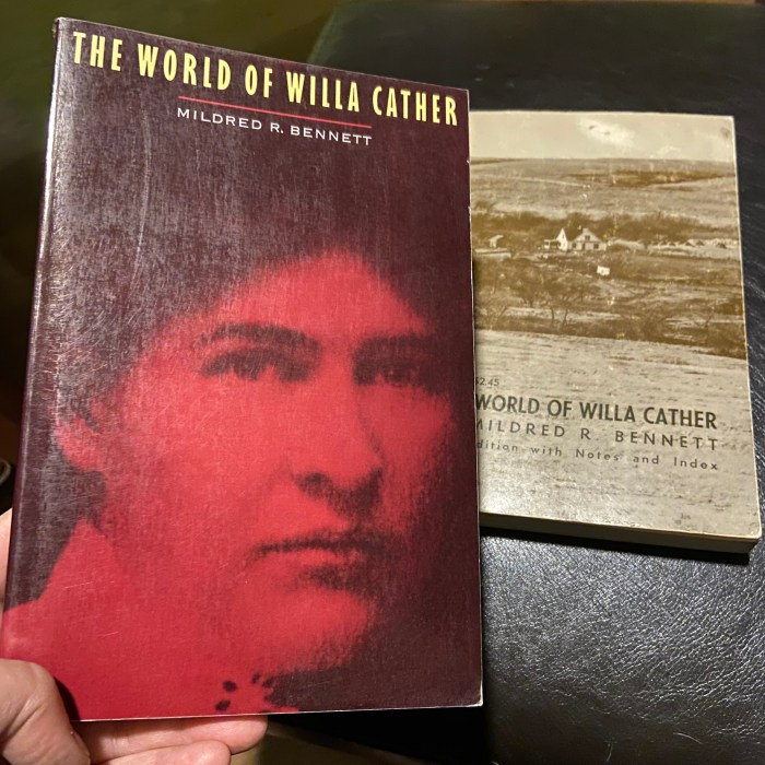 The World of Willa Cather by Mildred R. Bennett two covers