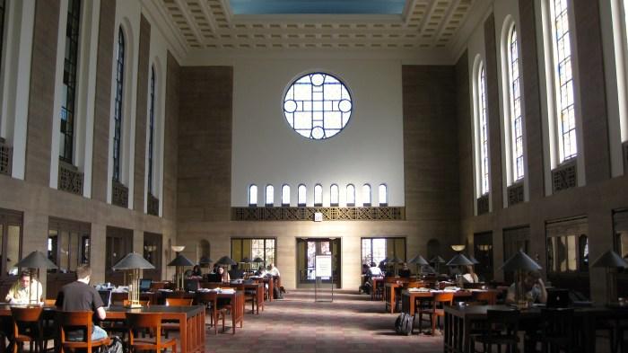 Donovan Reading Room Cudahy Library Loyola University Chicago