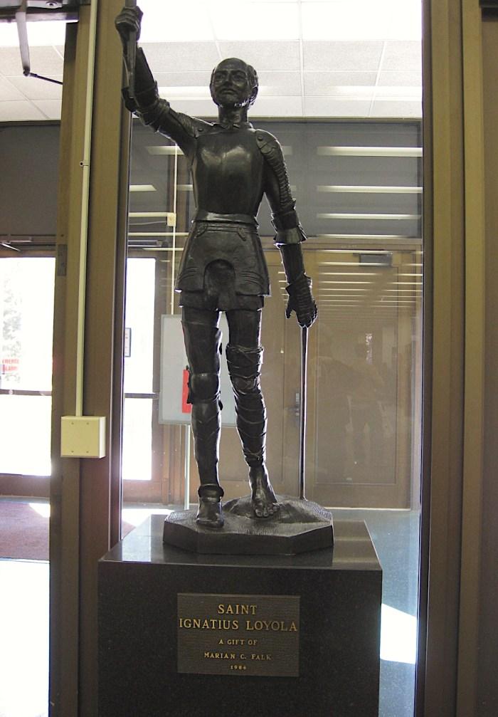 Saint Ignatius Loyola Statue Cudahy Library Loyola University Chicago