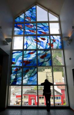 "Library Visit: Juneau, Alaska - Juneau Empire photo of Bruce Elliot's ""Transfiguration"""
