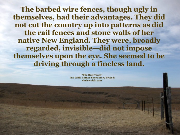The Best Years Quote and photo of the Willa Cather Memorial Prairie (taken by Chris Wolak)