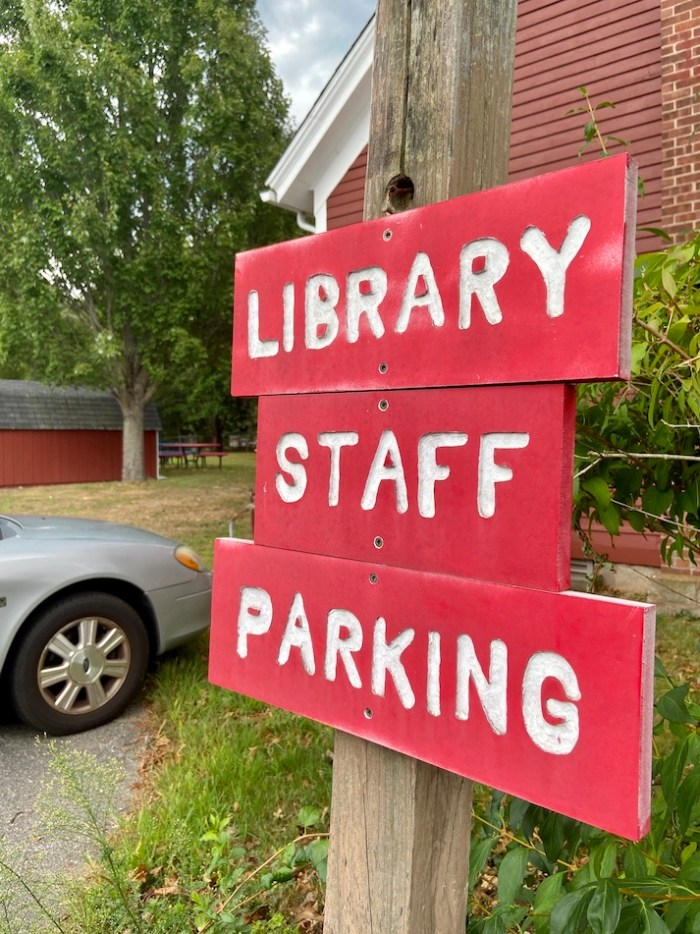 Library Staff Parking East Glastonbury Library