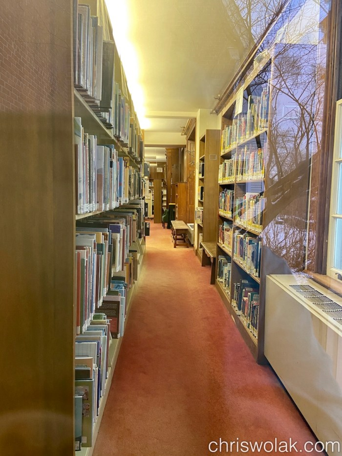Peek into the stacks, Jones Library, Amherst, MA