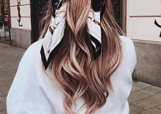 Как да носим шалове в косата си?