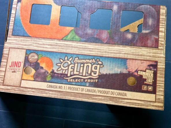 Jind Fruit Co. Summer Fling Select Fruit™ lattice top box.