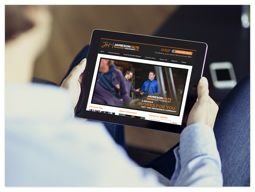 Get insurance information from the Jamieson-Hilts website wherever you are.