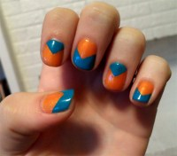 blue and orange nails | Cosmetic Confessional