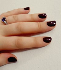 Dark Red Nail Polish Manicures Pictures to Pin on ...