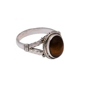 Δαχτυλίδι ασήμι 925° με οβάλ λίθο Λαμπραδορίτη