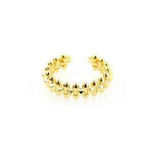 Δαχτυλίδι Μεταλλικό Ορειχάλκινο (Μπρούτζινο) σε Χρυσό Χρώμα 6x22mm