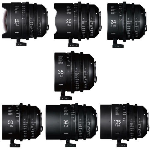 sigma cine lenses - video production equipment