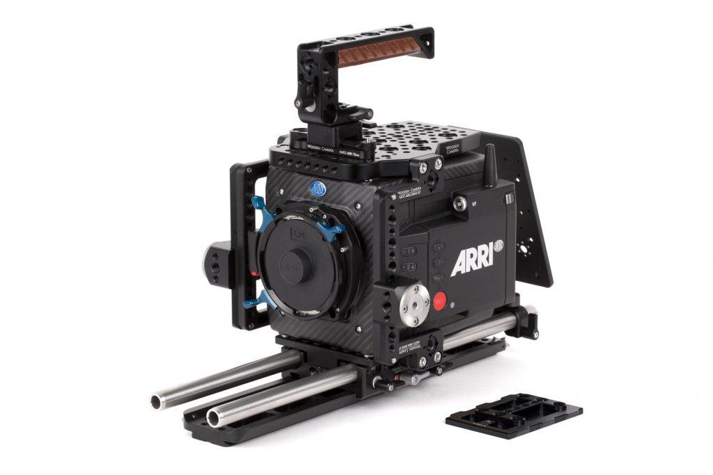 arri alexa mini lf camera with wooden camera accessories