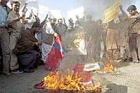Burning flags
