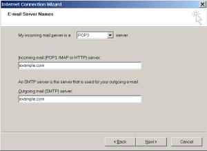 Outlook Express - Adicionar nova conta