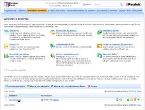 Separador Website e dominios