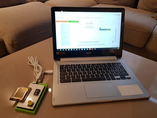 Découvrir l'électronique et l'informatique sur Chromebook avec Thingz