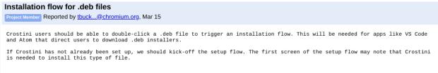 Chrome OS pourra bientôt installer des packages Debian