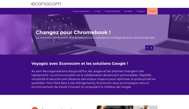 Econocom : un nouveau site dédié aux Chromebooks !