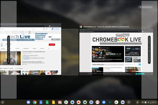 Chrome OS : bientôt une nouvelle manière de placer les fenêtres en mode Clamshell !