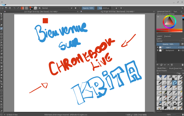 Krita : une énième alternative à Photoshop sur Chromebook ?