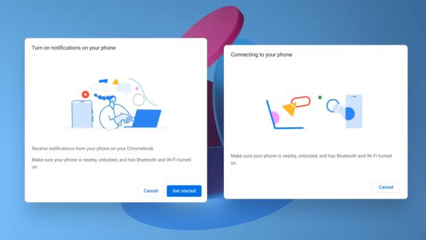 Phone hub : de nouvelles interfaces s'affichent sur Chrome OS !