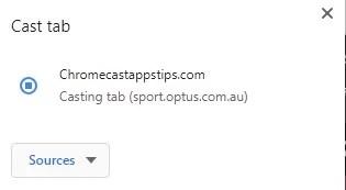 How to Chromecast Optus Sport?
