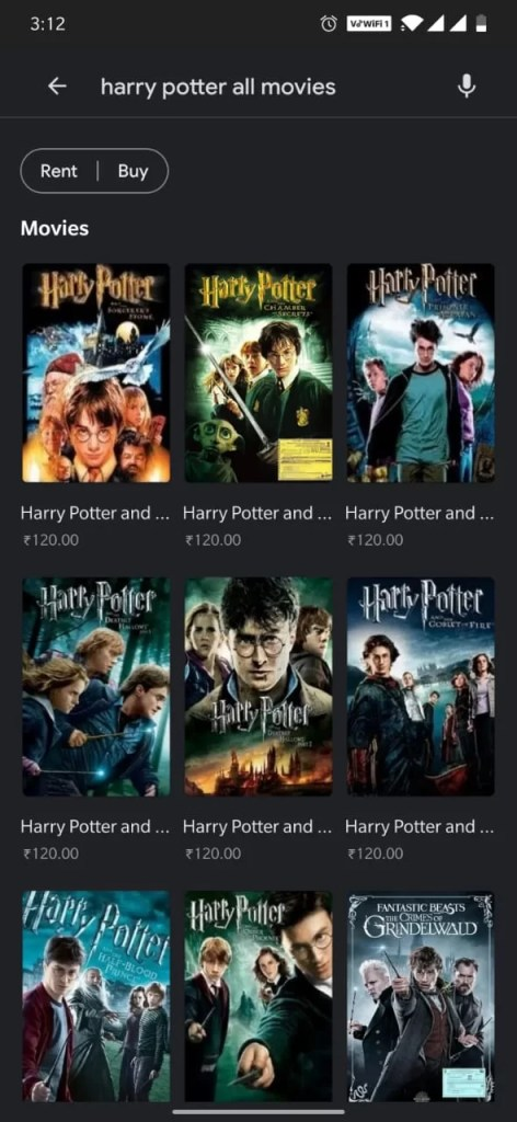 Select a movie